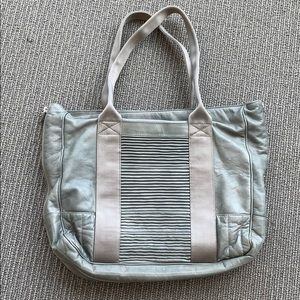 Marc Jacobs Grey Leather Tote Bag